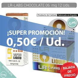 LR-LABS E-LIQUID CHOCOLATE 06 mg 12 Uds.