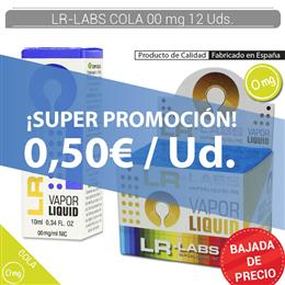 LR-LABS E-LIQUID COLA 00 mg 12 Uds.