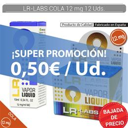 LR-LABS E-LIQUID COLA 12 mg 12 Uds.