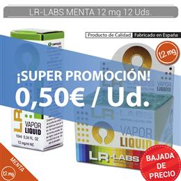 LR-LABS E-LIQUID MENTA 12 mg 12 Uds.