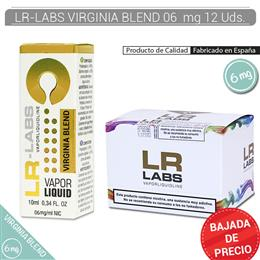 LR-LABS E-LIQUID VIRGINIA BLEND 06 mg 12 Uds.