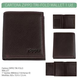 ZIPPO CARTERA TRI-FOLD WALLET BROWN 1 Ud. 2006048