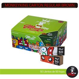 MONKEYKING FILTROS CARTON REGULAR BROWN 50 Uds. MMC50
