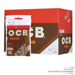 OCB FILTROS SLIM VIRGIN 10 Uds.