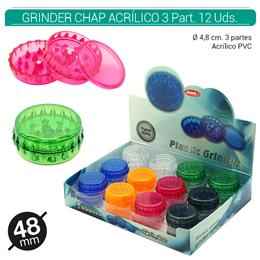 GRINDER 3 Part. ATOMIC CHAP 48 mm S/C 24 Uds. 02.12465