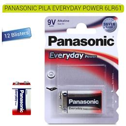PANASONIC PILA EVERYDAY POWER 6LR61 12 Blisters