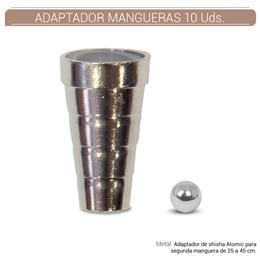 ADAPTADOR TUBOS ATOMIC METALICO 10 Uds. 01.23033