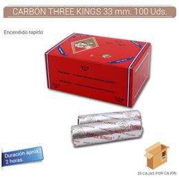 CARBON THREE KINGS 33 mm. 100 Uds.