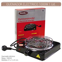 QUEMADOR ELECTRICO ATOMIC 1000W NEGRO 1 Ud. 01.23050