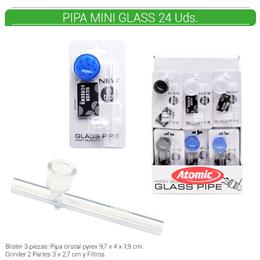 PIPA+GRINDER ATOMIC MINI GLASS 24 Uds. 02.12793