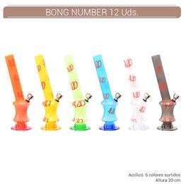 BONG ACRILICO NUMBER FROSTY 20 cm. 12 Uds. 02.12695