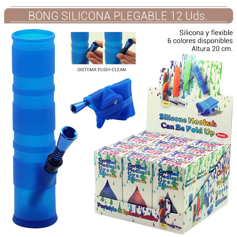 BONG ATOMIC SILICONA FLEXIBLE 20 cm. 12 Uds. 02.12645