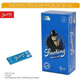 SMOKING REGULAR Nº 8 BLUE 50 Lib.