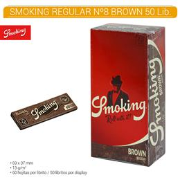 SMOKING REGULAR Nº 8 BROWN 50 Lib.