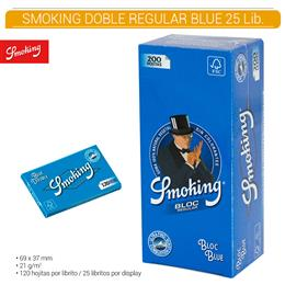 SMOKING DOBLE REGULAR BLUE 25 Lib.