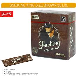 SMOKING KING SIZE BROWN 50 Lib.