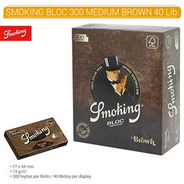 SMOKING BLOC 300 MEDIUM BROWN 40 Lib.