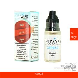 TRUVAPE E-LIQUID CEREZA 06 mg 10 ml 6 Uds. TV011