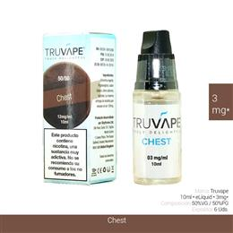 TRUVAPE E-LIQUID CHEST 03 mg 10 ml 6 Uds. TV035