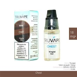 TRUVAPE E-LIQUID CHEST 18 mg 10 ml 6 Uds. TV040