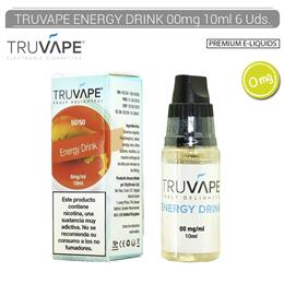 TRUVAPE E-LIQUID ENERGY DRINK 00 mg 10 ml 6 Uds. TV015