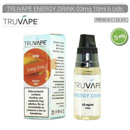 TRUVAPE E-LIQUID ENERGY DRINK 03 mg 10 ml 6 Uds. TV016