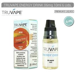 TRUVAPE E-LIQUID ENERGY DRINK 06 mg 10 ml 6 Uds. TV017