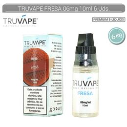 TRUVAPE E-LIQUID FRESA 06 mg 10 ml 6 Uds. TV029