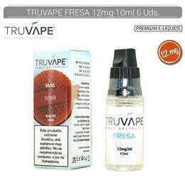 TRUVAPE E-LIQUID FRESA 12 mg 10 ml 6 Uds.