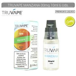 TRUVAPE E-LIQUID MANZANA 00 mg 10 ml 6 Uds. TV003