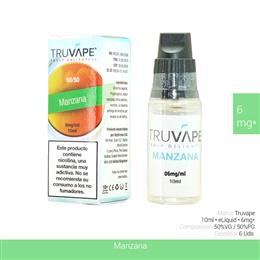 TRUVAPE E-LIQUID MANZANA 06 mg 10 ml 6 Uds. TV005