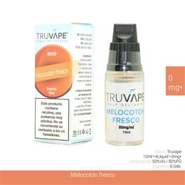 TRUVAPE E-LIQUID MELOCOTON 00 mg 10 ml 6 Uds. TV018