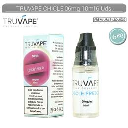 TRUVAPE E-LIQUID CHICLE FRESCO 06 mg 10 ml 6 Uds. TV008