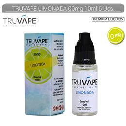 TRUVAPE E-LIQUID LIMONADA 00 mg 10 ml 6 Uds. TV044