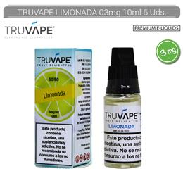 TRUVAPE E-LIQUID LIMONADA 03 mg 10 ml 6 Uds. TV045