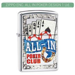 ZIPPO ENC. ALL IN POKER DESIGN 1 Ud. 60003880