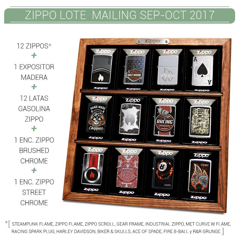 ZIPPO LOTE MAILING SEP OCT 2017 1 Ud.
