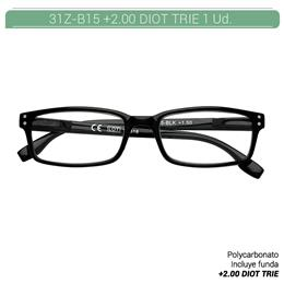 ZIPPO READING GLASSES +2.00 DIOT TRIE 1 Ud. 31Z-B15-BLK200 [2006187]