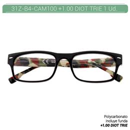 ZIPPO READING GLASSES +1.00 DIOT TRIE 1 Ud. 31Z-B4-CAM100