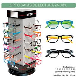 ZIPPO EXP. 24 PCS. READING GLASSES + EXPOSITOR 1 Ud. 2004847