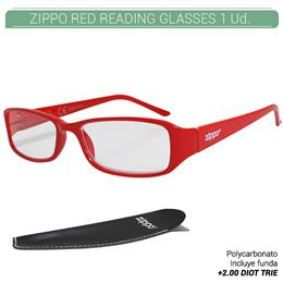 ZIPPO RED READING GLASSES +2.00 DIOT TRIE 1 Ud. 31Z031-RED200