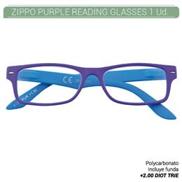 ZIPPO PURPLE READING GLASSES +2.00 DIOT TRIE 1 Ud. 2004961