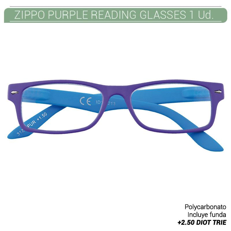 ZIPPO PURPLE READING GLASSES +2.50 DIOT TRIE 1 Ud. 2004962