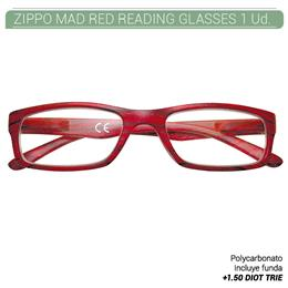 ZIPPO MAD RED READING GLASSES +1.50 DIOT TRIE 1 Ud. 2005509
