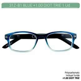 ZIPPO B-CONCEPT 31Z-B1 READING GLASSES BLUE +1.0 DIOT TRIE 1 Ud. 2004856