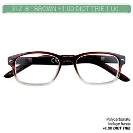 ZIPPO B-CONCEPT 31Z-B1 READING GLASSES BROWN +1.0 DIOT TRIE 1 Ud. 2004868