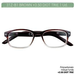 ZIPPO B-CONCEPT 31Z-B1 READING GLASSES BROWN +3.5 DIOT TRIE 1 Ud. 2004873