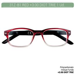 ZIPPO B-CONCEPT 31Z-B1 READING GLASSES RED +3.0 DIOT TRIE 1 Ud. 2004854
