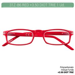 ZIPPO RED READING GLASSES +3.50 DIOT TRIE 1 Ud. 31Z-B6-RED350 2004988