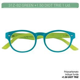 ZIPPO GREEN READING GLASSES +1.50 DIOT TRIE 1 Ud. 31Z-B2-GRE150 230218
